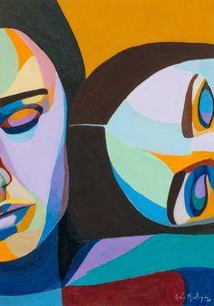 Figurative Art September on Behance Easy Canvas Art, Small Canvas Art, Acrylic Painting Canvas, Art Deco Paintings, Indian Art Paintings, Modern Art Paintings, Modern Art Prints, Art Moderne, Cool Art Drawings