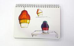 Matrioshka Lamp for Innermost by Stone Designs, 2015 #Innermost #StoneDesigns #lighting #illumination #design #milan #salonedelmobile #sketch