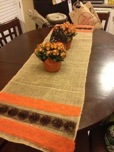 Fall burlap DIY table runner