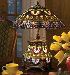 Wisteria stained glass lamp by Tiffany