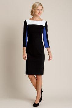 Colorblock Ponte Knit Sheath Dress from Chadwicks Of Boston on Catalog Spree