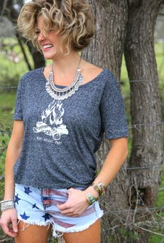 ❤ Cowgirls Fashions BURN BRIGHT BABY campfire tee. {junk gypsy co} Kerouac quote on the back!