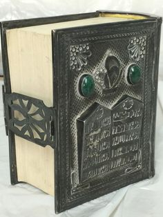 Rare Antique DUGMA ISRAEL STERLING Over JEWISH HEBREW Prayer Book BIBLE Judaica