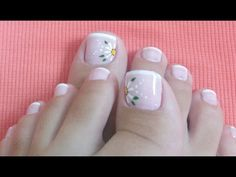 Toe Nail Designs, Simple Nail Designs, Mani Pedi, Manicure And Pedicure, Cute Pedicures, Finger, French Pedicure, Feet Nails, Super Nails