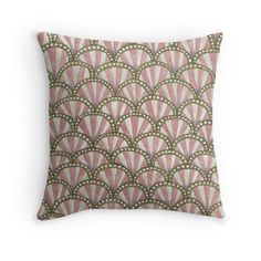 art deco patterned pillow by stacey walker oldham available at redbubble