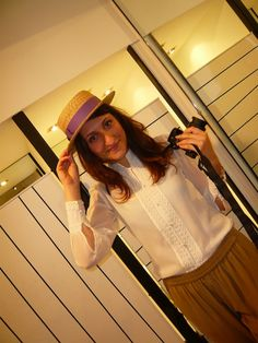 From our Browns styling event in London. Sporting our Melrose Shirt & Selena Silk Pants (and an awesome hat). #style #clubmonaco