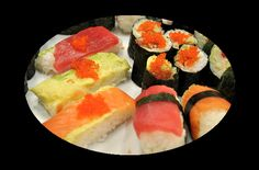 sushi rolls -- She had a new pizza before you head in the market to any girl eat sushi with us lol! sushi deals #sushi #food