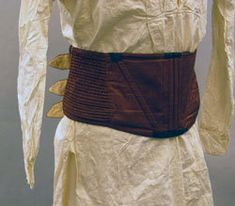 Man's corset belonging to Purser Thomas Chew, USS Constitution, ca. 1825-30. Old Ironsides: USS Constitution Museum, Charlestown, Massachusetts