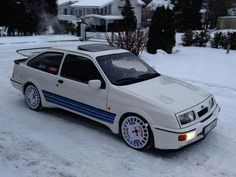 Sierra Cosworth , love it with the stripes , just looks right Ford Sierra, Ford Rs, Car Ford, Bmw E36, E36 Coupe, Best Car Insurance, Ford Escort, Performance Cars, Modified Cars