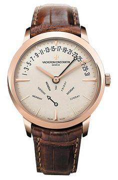 Vacheron Constantin 86020/000r-9239 Patrimony Bi-Retrograde Day Date - швейцарские мужские наручные часы - золотые, белые