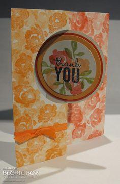 Artistic Embellishments: Painted Petals flip card