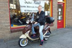 #Macklemore on his new Mocha Buddy 170i! #GenuineScooters