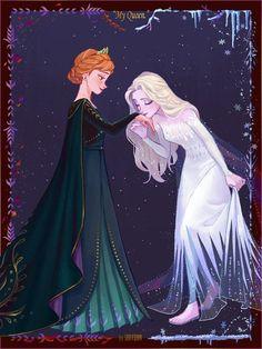 disney princess all hail the Queen Frozen Art, Disney Frozen 2, Disney Magic, Anna Frozen, Frozen Movie, Disney Memes, Disney Shirts, Disney Cartoons, Disney Crossovers