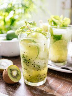 Kiwi Lime Mojitos | www.kitchenconfidante.com  It's a getaway in a glass!  @airnewzealand
