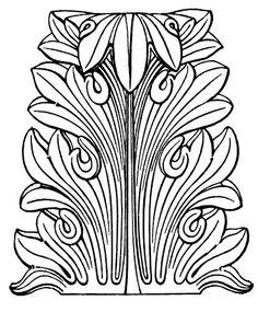 Acanthus leaf motif