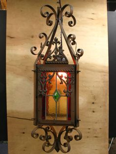 1137 Antique Victorian Stained Glass and by lampslightsshades