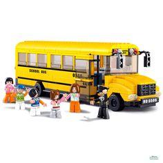 Costruzioni SCUOLABUS GRANDE CON STUDENTI ED AUTISTA mattoncini 0506 Per bambini 6 anni Lego