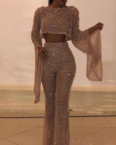 Womens Casual boat Neck Bell Sleeve Pure Color Bare Back Jumpsuit - Sparkly Jumpsuit, Sequin Jumpsuit, Bodycon Jumpsuit, Jumpsuit Outfit, Sequin Pants, Casual Jumpsuit, Dress Casual, Backless Jumpsuit, Prom Outfits