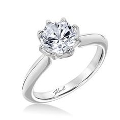Shop online Karl Lagerfeld 31-KA107GRP-E Solitaire 18K - White Gold Diamond Engagement Ring at Arthur's Jewelers. Free Shipping