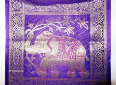 Amazon.com - WLH02577 Rajasthani Handmade Elephant Work Design Vintage Silk Wall Hanging Valentines Day Gift 25 X 10 Inches -