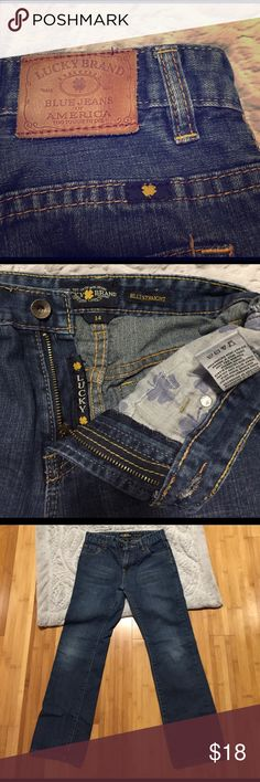 Lucky Brand Billy Straight Jeans Lucky Brand Billy Straight Jeans. Great condition! No noticeable wear. Size 14 boy. 🏅These awesome jeans were chosen as a Host Pick in the Everything Kids Party on 4/27/17! 🥇 Lucky Brand Bottoms Jeans