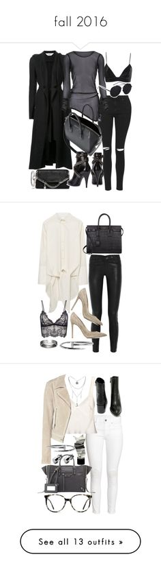fall 2016 by florencia95 on Polyvore featuring polyvore fashion style Kitx Topshop Morgan Lane STELLA McCARTNEY Givenchy Yves Saint Laurent Acne Studios clothing Christian Louboutin Gianvito Rossi Gant Rugger Anine Bing Cartier H&M Calvin Klein Collection Balenciaga Aesop Very Volatile Ace Moschino Cheap & Chic AllSaints Fallon Stuart Weitzman Chanel Jil Sander Jimmy Choo Zara La Perla Bobbi Brown Cosmetics ASOS RE/DONE B-Low the Belt Loree Rodkin Boohoo Ray-Ban Jennifer Fisher IRO MaxMara…