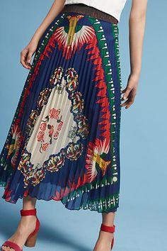 Anna Sui New York, New York Pleated Skirt