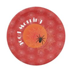 #Cross spider in the net with rope drops such as paper plate - #Halloween happy halloween #festival #party #holiday
