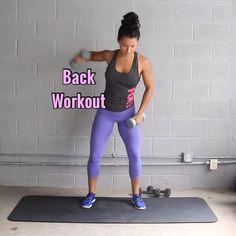 Carmen Morgan Back Workout Equipment: 3-5lbs Dumbbells 10-12lbs Dumbbells  8 reps per arm of single exercises 10 reps of regular exercises 3-5 sets