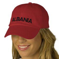 f5cb4aa3917 Albania Adjustable Hat Shqipëri Kapak Me Porosi Embroidered Baseball Caps  Ribbon Shirt