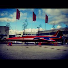 Colors of Norway on a plane:-) Prior the coming air-show