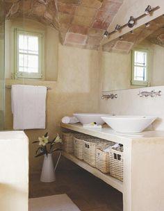 Bathroom Design & Decor - 7 Great Ideas for Your Bathroom Remodel - Ribbons & Stars Bathroom Hacks, Diy Bathroom Decor, Bathroom Renovations, Modern Bathroom, Small Bathroom, Casa Disney, Tadelakt, Rustic Room, Beautiful Bathrooms