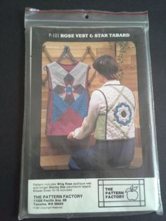 Vintage quilted rose vest and star tabard by BloomingRoseCrochet