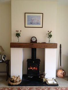 Wood Burning Stove Installation - July 2011 by sussex chimney sweep - swept away Stove Installation, Chimney Breast, Front Rooms, Log Burner, Wood Interiors, House Interiors, My Living Room, Small Living, Living Room Inspiration