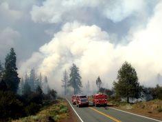 Wild Land Fire Hat Creek, California