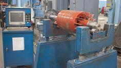 Balancing an armature, part of the electric motor repair process