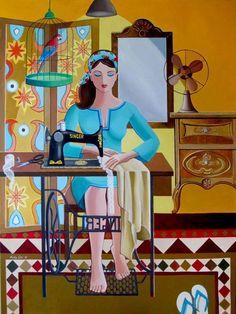 Nadia Osi,iraqi artist Lace - Acrylic on Canvas inch. Illustrations, Illustration Art, Timor Oriental, Hamsa Art, Arabian Art, Turkish Art, Plastic Art, Sewing Art, Egyptian Art
