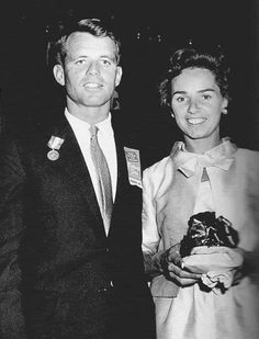 "thekennedyclan: ""1959, Bobby after winning the Father of the Year Award """