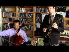 Have 15 minutes to spare? Sit back and enjoy this AMAZING short concert. Yo-Yo Ma, Edgar Meyer, Chris Thile And Stuart Duncan: NPR Music Tiny Desk Concert