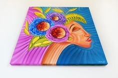 Latin american art Miami for sale, original oil painting by Miami based artist Laelanie Larach, colorful art for sale at Laelanie Art Gallery.