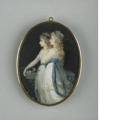 Jean-Urbain Guerin, 'Georgiana, Duchess of Devonshire, and Lady Elizabeth Foster', 1791. Miniature, painted on ivory, Wallace Collection. Date accords with a visit in Paris following Georgiana's banishment on account of her extramarital pregnancy. Bess accompanied her, and Guerin's miniature should be regarded as a sign of the friendship and love between the two women, for two versions were painted, one for each sitter.