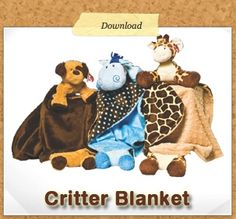 Free Critter Blanket Pattern and Video - Heirloom Creations