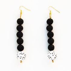 Handmade fashion statement polymer clay earrings made in Greece
