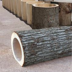 Hollow Log Tunnel by Natural Playgrounds Store -