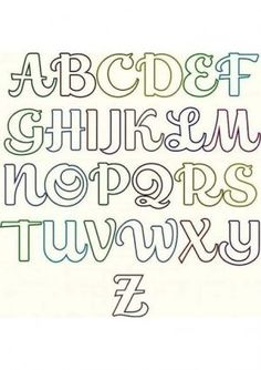 Graffiti Lettering Fonts, Hand Lettering Alphabet, Calligraphy Alphabet, Lettering Design, Lettering Tutorial, Fancy Letters, Monogram Letters, Fond Design, Alphabet Templates