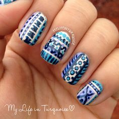 My Life in Turquoise: Tribal Print - #16 for the 31 Day Challenge