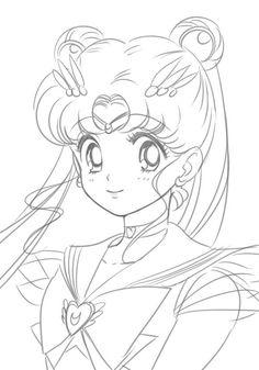 Sailor Moon Villains, Sailor Moon Manga, Sailor Moon Art, Sailor Moon Coloring Pages, Cute Coloring Pages, Moon Sketches, Art Drawings Sketches, Manga Anime, Cristal Sailor Moon