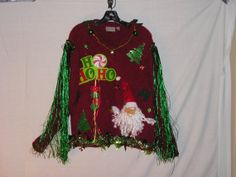 Ugly Christmas Sweater Tacky Sweater by VintageDesignByVines, $40.00
