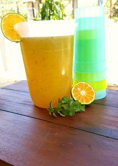 Limonade met munt, echte voorjaarsdrank heerlijk fris en gezond.