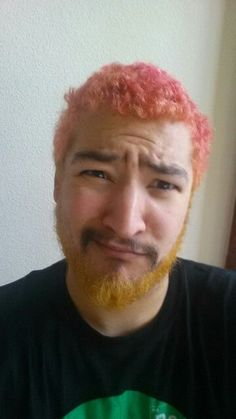 Uberhaxornova as Novapolitan! When he dyed his hair pink and bleached his beard for charity.